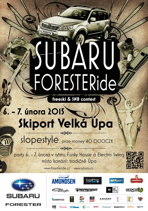 subaru foresteride 2015 - skiport velka upa - snb a freeski zavody