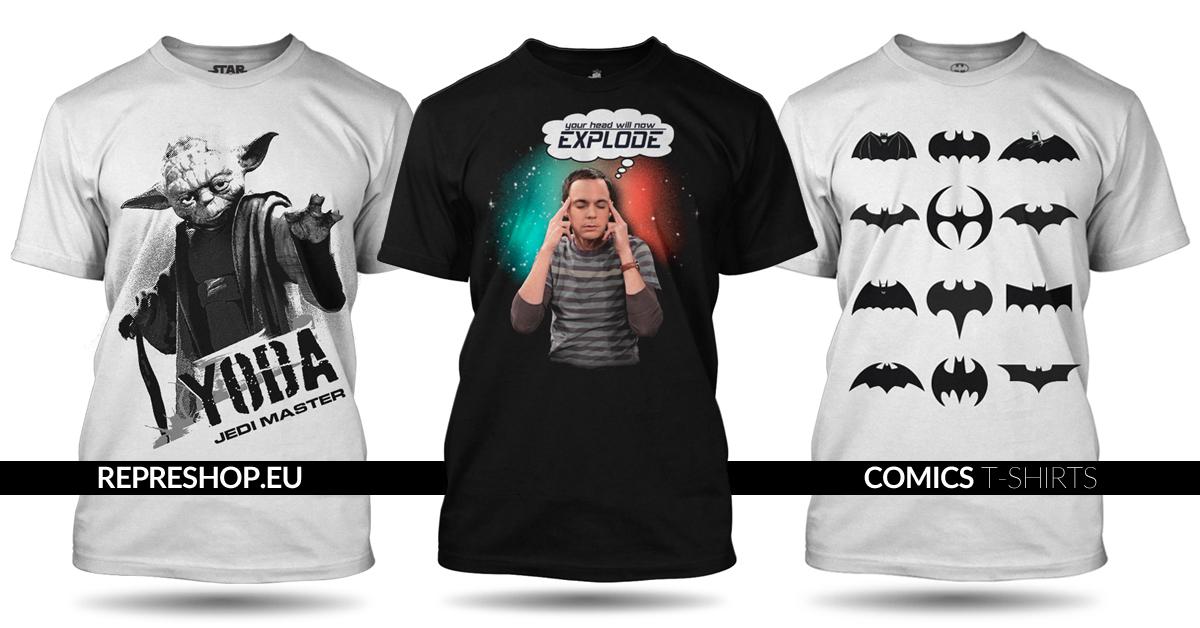 Komiksová trička na Represhop.eu