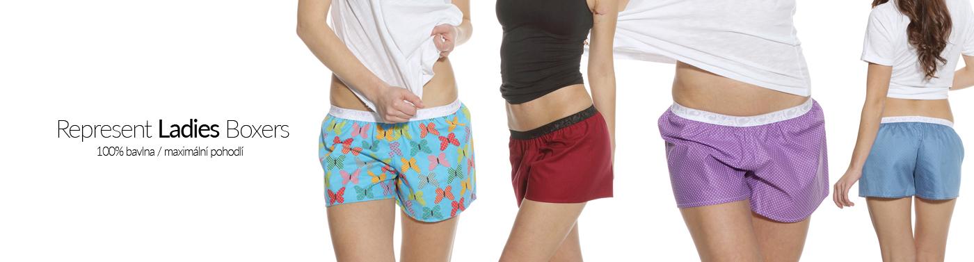 Nové modely dámských boxerek Represent