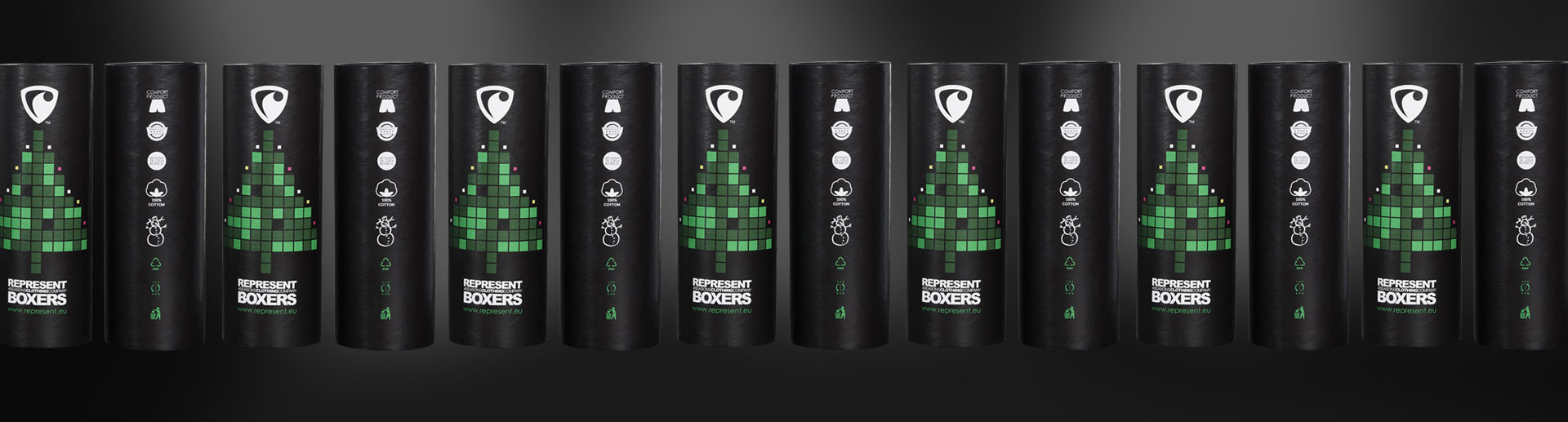 Nový vánoční obal na boxerky Represent