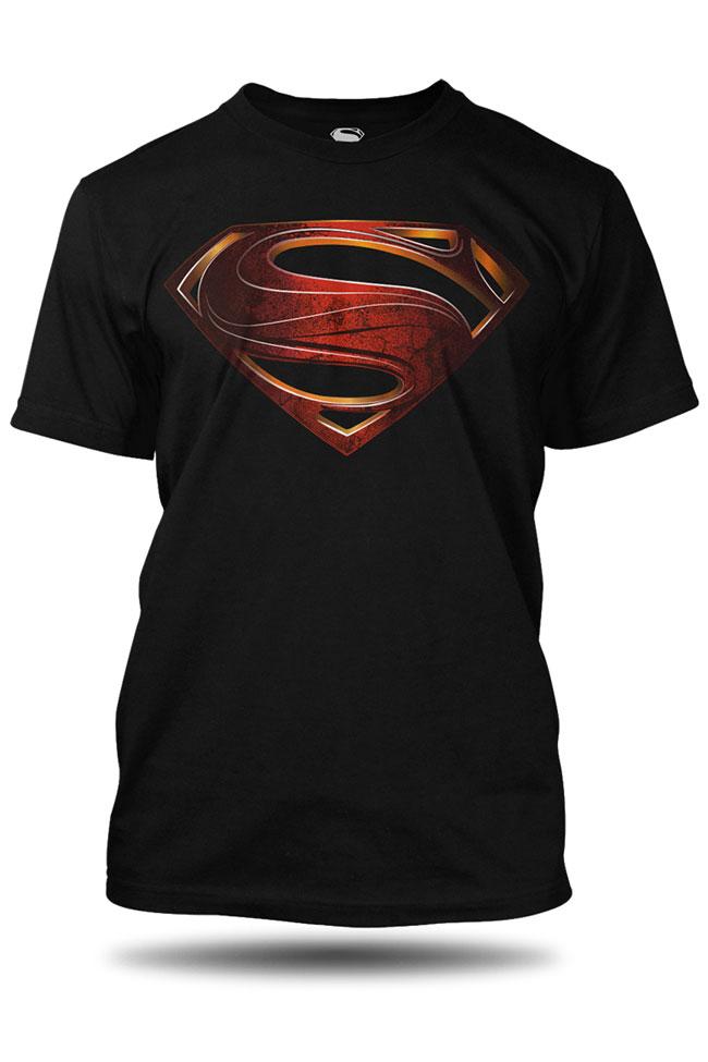 Tričko s krátkým rukávem GEEK SUPERMAN MAN OF STEEL 4d9418a153