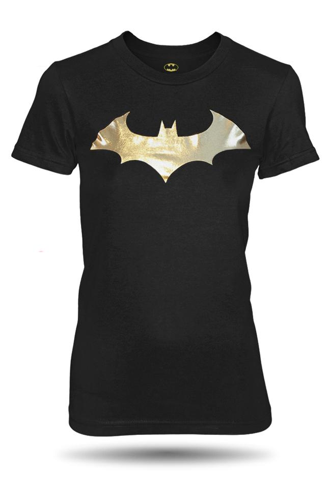62d5cad634 Tričko s krátkým rukávem GEEK Batman Logo Gold